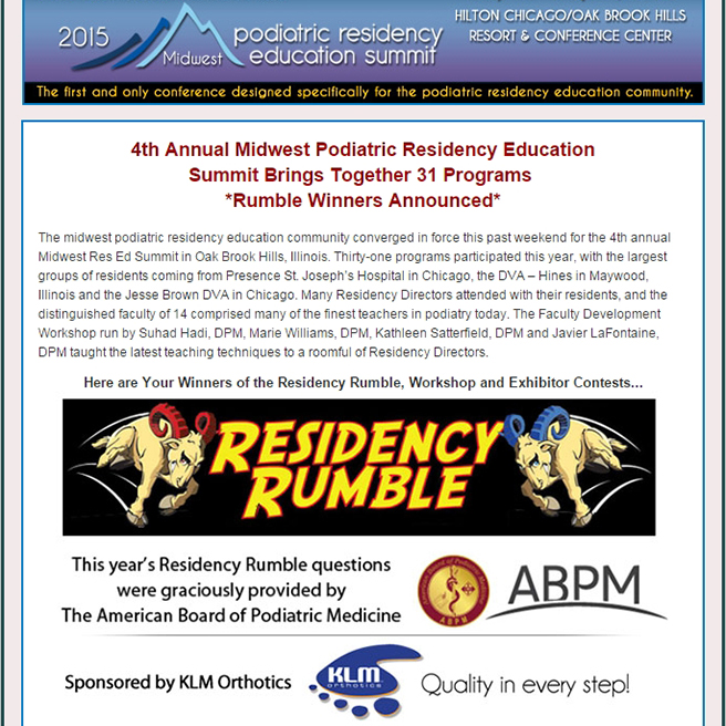 Residency Education Summit Midwest 2015