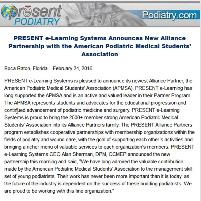 Alliance Partnership with APMSA